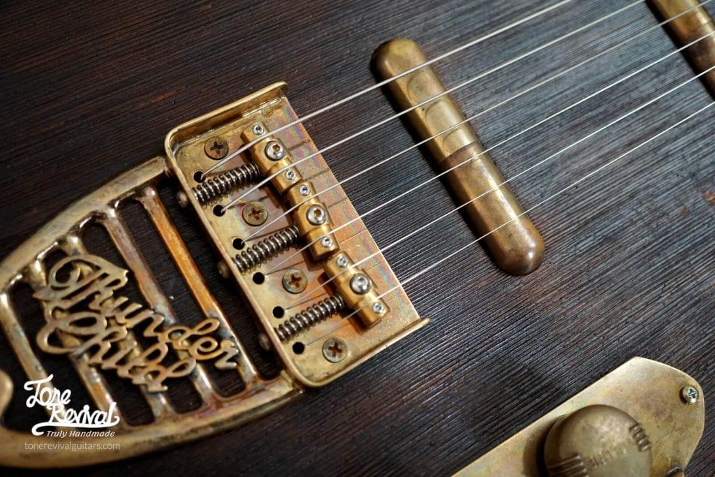 Custom Cedar guitar with custom made lipstick pickups