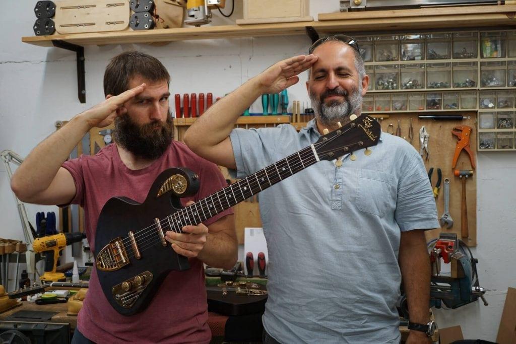 guitar workshop - david and benjamin thunder child custom guitar builders