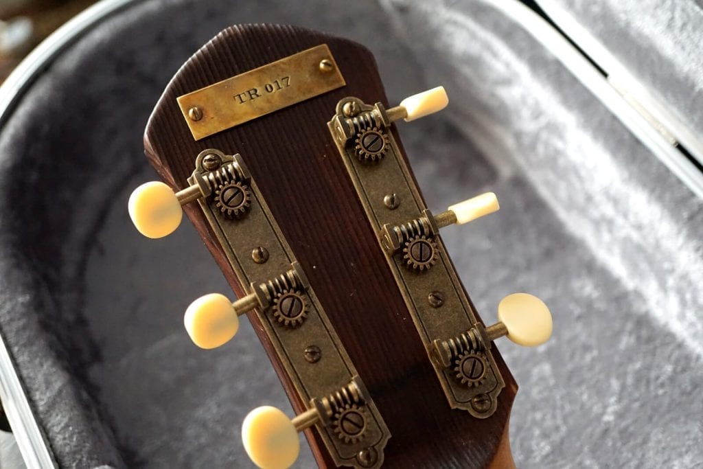 handmade guitars lightweight wood with brass hardware