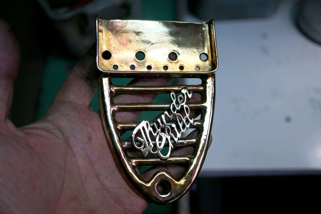 Custom Guitar brass hardware