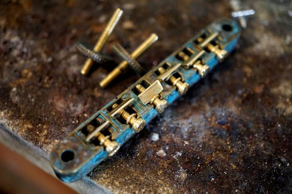 custom Brass Tune-O-Matic