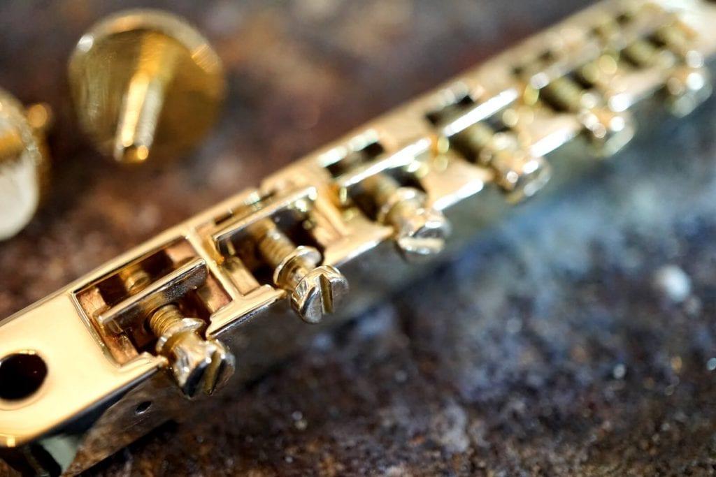 customized electric guitar Brass Tune-O-Matic