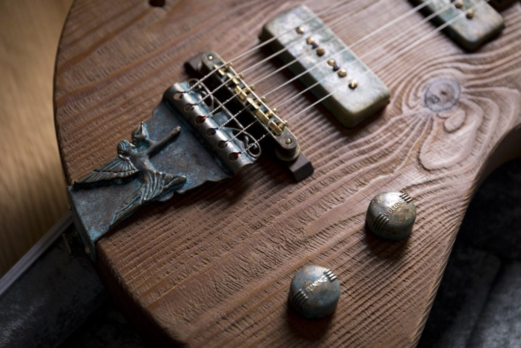 custom aged brass knobs and brass alloy tailpiece