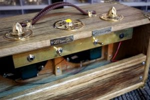 custom Guitar Amp with brass hardware