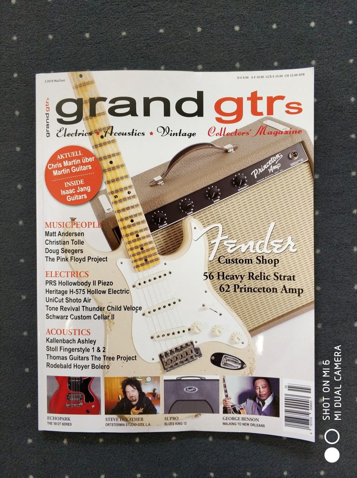 Thunder Child Veloce - Grand Guitars Magazine publication
