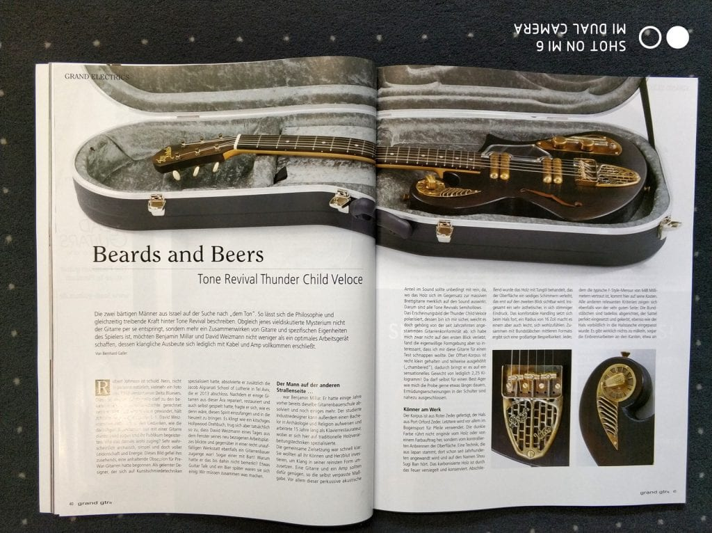 Thunder Child article Grand Guitars Magazine