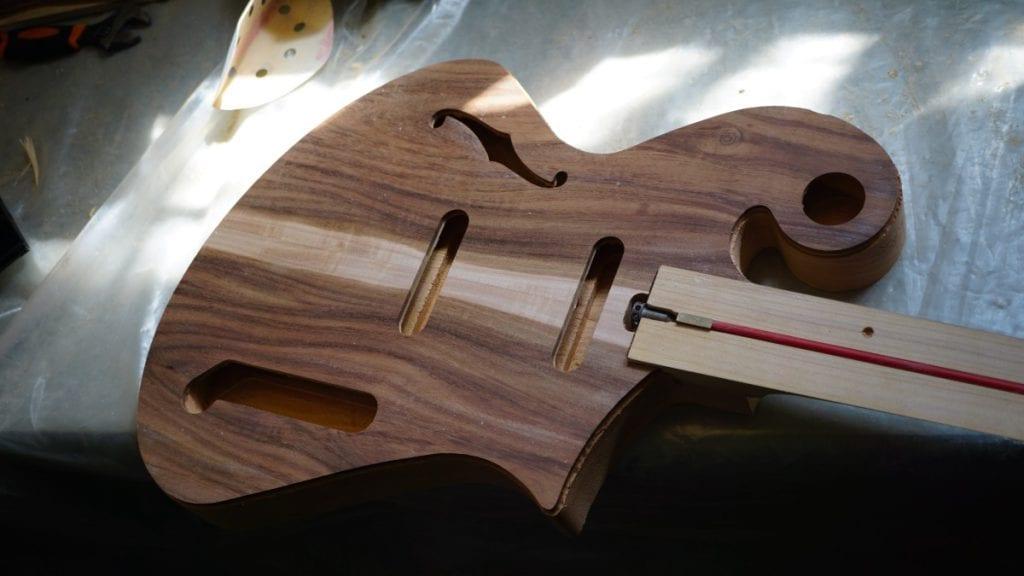Handmade wood guitar