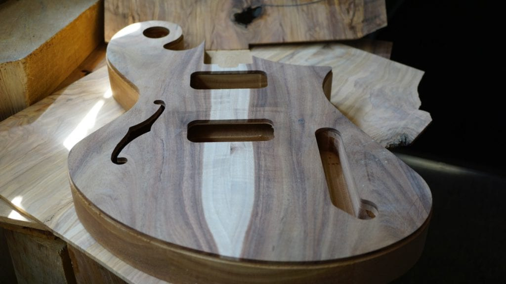 Judean Desert Acacia handmade guitar