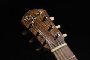 Handcrafted guitar made from Wild Rosewood Headstock veneer
