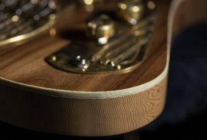 Thunderchild Veloce custom guitar - Rare Salvaged Judean Desert Acacia
