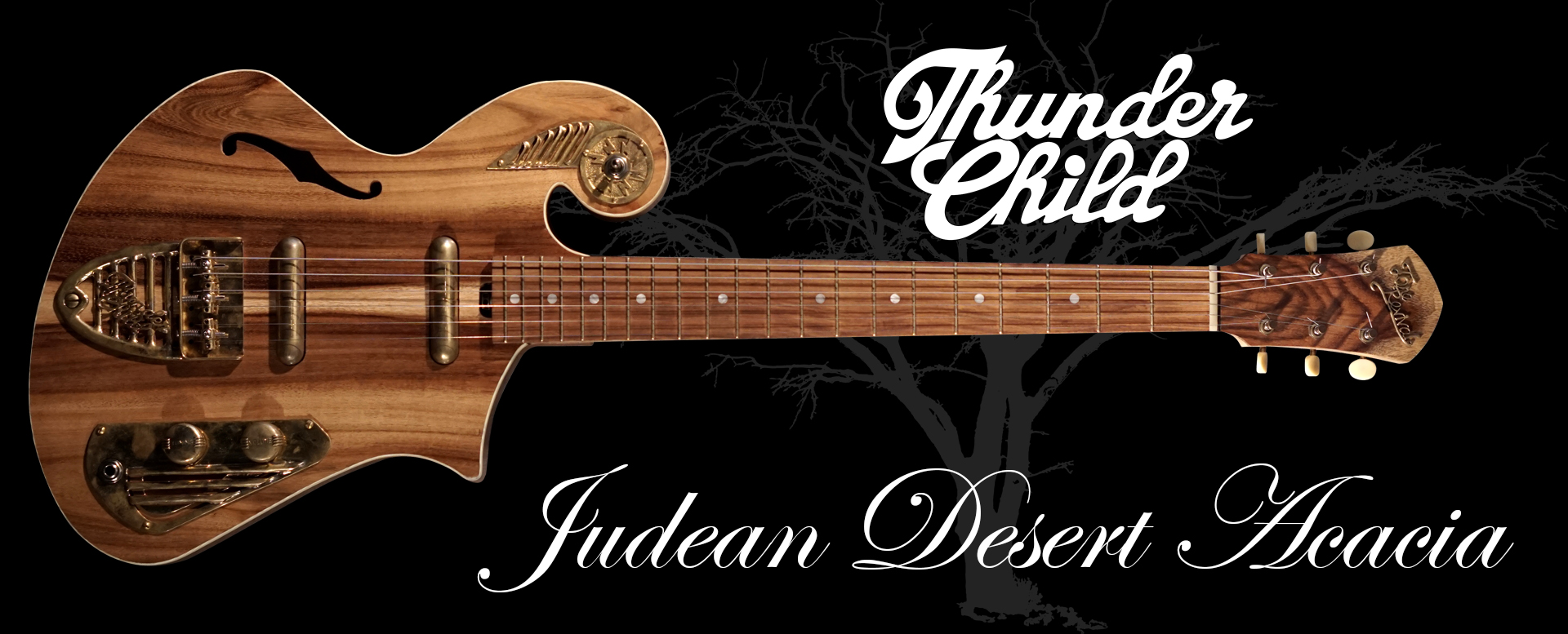 Judean Desert Acacia - Thunder Child boutique guitar