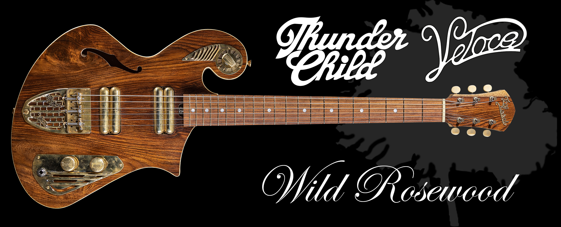 Handcrafted guitar from Wildrosewood Thunder Child