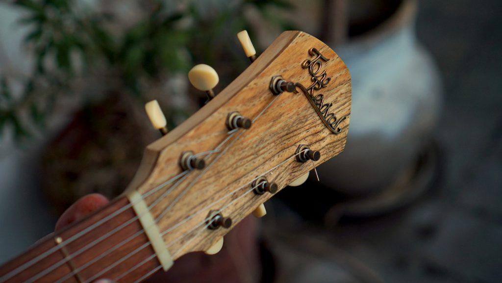 Handmade Guitar made from Jerusalem Pine |Guitar Headstock | - Spirit of the Wind by Tone Revival Guitars