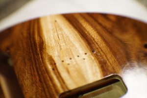 Lightwight Guittar Thunderchild Veloce custom guitar - Rare Wild Local Salvaged Rosewood - The making of pic