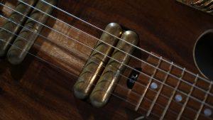 custom guitar - Rare Salvaged Judean Desert Acacia Thunderchild Veloce - Lipstick Pickups