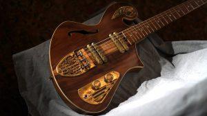 custom guitar - Rare Salvaged Judean Desert Acacia Thunderchild Veloce - Handmade Brass Hardware