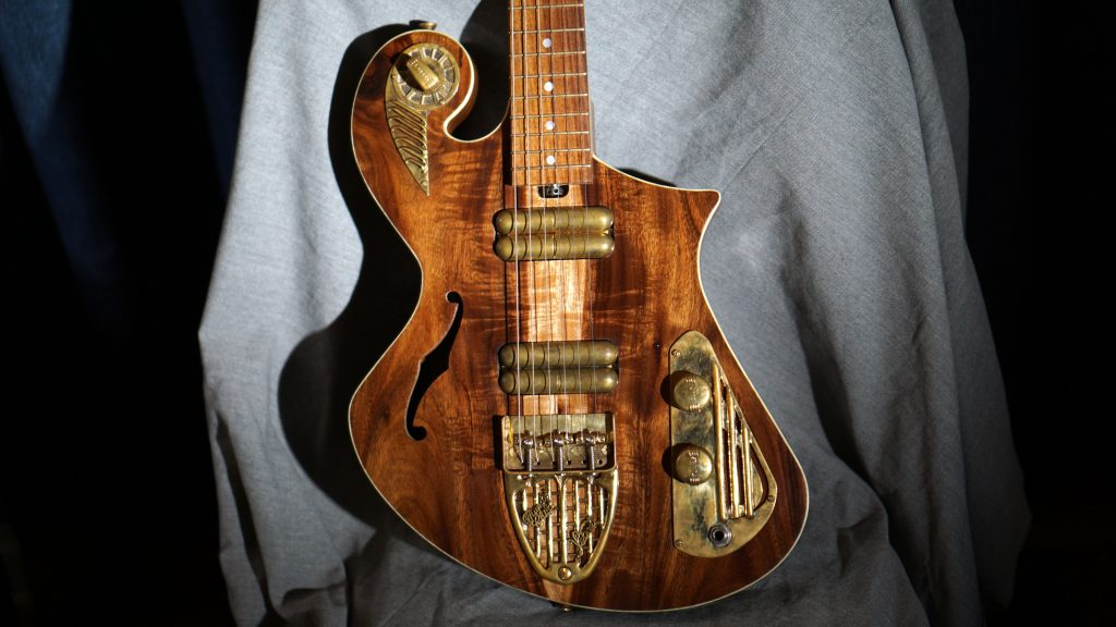 Handcrafted Guitar- Judean Desert Acacia - Thunder Child Veloce Boutique Guitar
