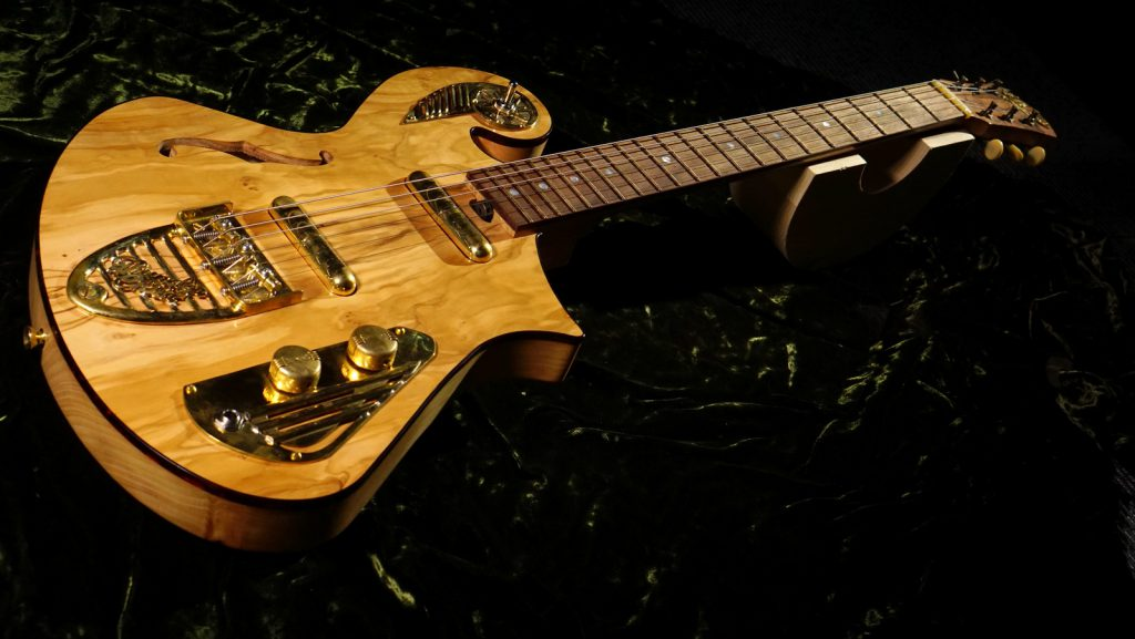 Handcrafted Ancient Olive Guitar