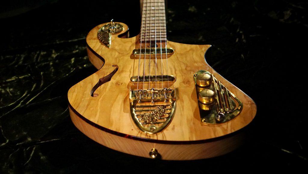 Ancient Olive Handmade Thunder Child Guitar