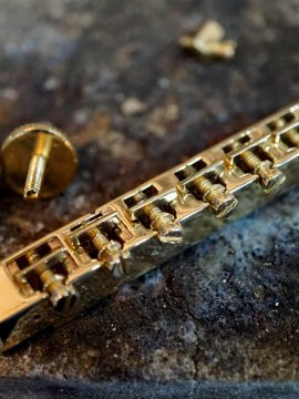 Our Handmade Brass Tune-O-Matic Bridge