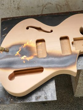 Charring the Thunder Child Handmade Guitar Bodies