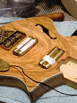 New Ancient Olive Thunder Child Veloce Guitar