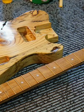 "The ""Battle-Scar"" Reclaimed Pine Sonic Wonder Guitar"