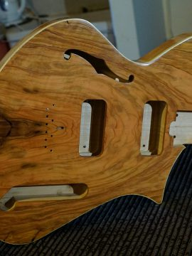 Salvaged Olive Guitar-An Upcoming Thunder Child Veloce Guitar