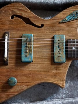 Divinity is in the details. A custom Spirit of the Wind Guitar