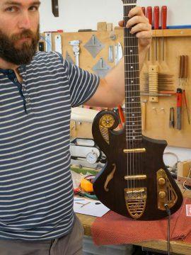 A Super Lightweight Thunder Child Guitar Leaves the workshop