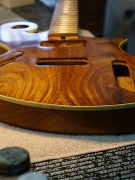 An Upcoming Wild Rosewood Thunder child Veloce Handmade Guitar